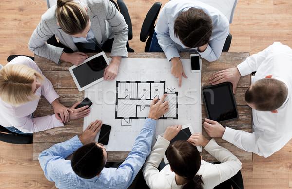 Equipe de negócios diagrama pessoas de negócios tecnologia trabalho em equipe Foto stock © dolgachov