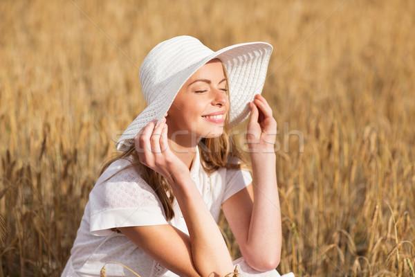 счастливым зерновых области природы Сток-фото © dolgachov
