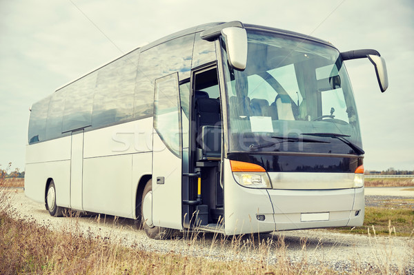 Tur otobüs açık havada seyahat turizm yol Stok fotoğraf © dolgachov