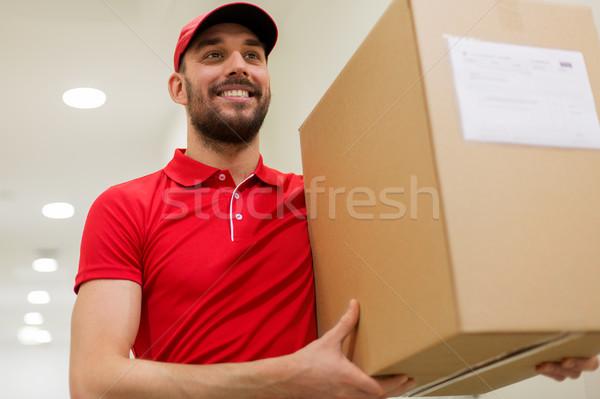 Futár csomag doboz folyosó házhozszállítás posta Stock fotó © dolgachov