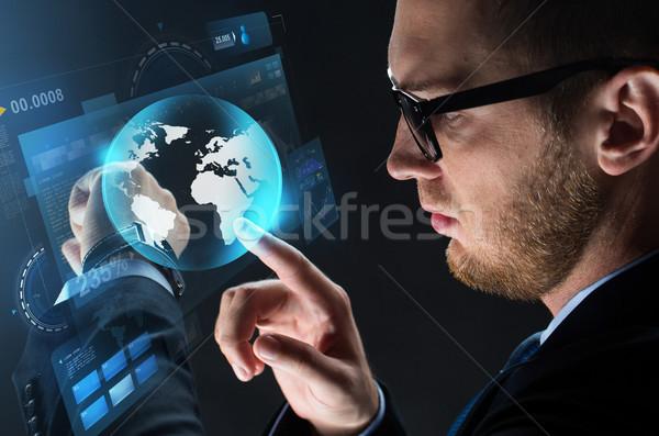 Stock fotó: Közelkép · üzletember · okos · óra · üzletemberek · modern