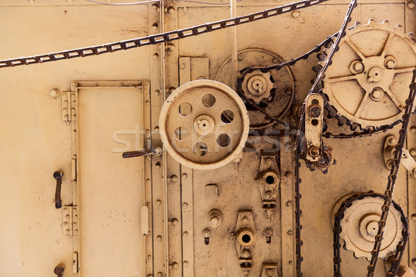 vintage machine mechanism at old abandoned factory Stock photo © dolgachov
