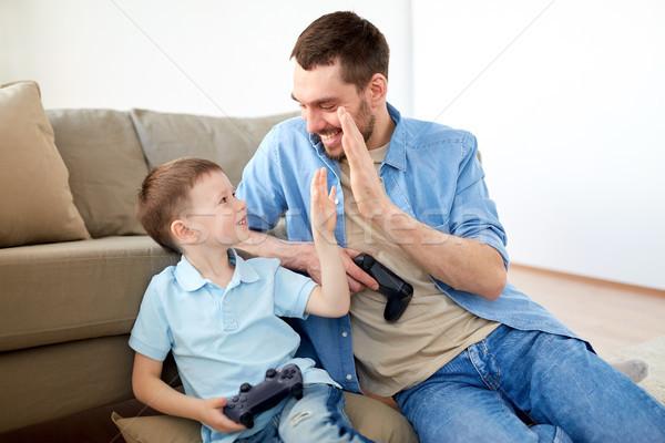 Hijo de padre máximo de cinco familia paternidad personas feliz Foto stock © dolgachov