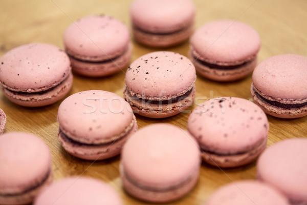 Macarons таблице кондитерские изделия хлебобулочные приготовления Сток-фото © dolgachov