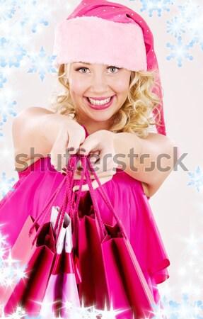 サンタクロース ヘルパー ピンク ランジェリー ディスコボール セクシー ストックフォト © dolgachov