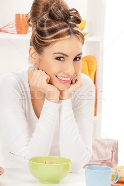 主婦 カップ ミューズリー 明るい 画像 女性 ストックフォト © dolgachov