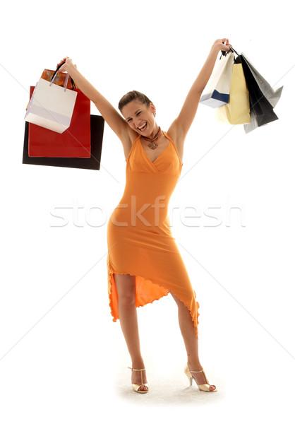 торговых эйфория счастливая девушка моде красоту Сток-фото © dolgachov
