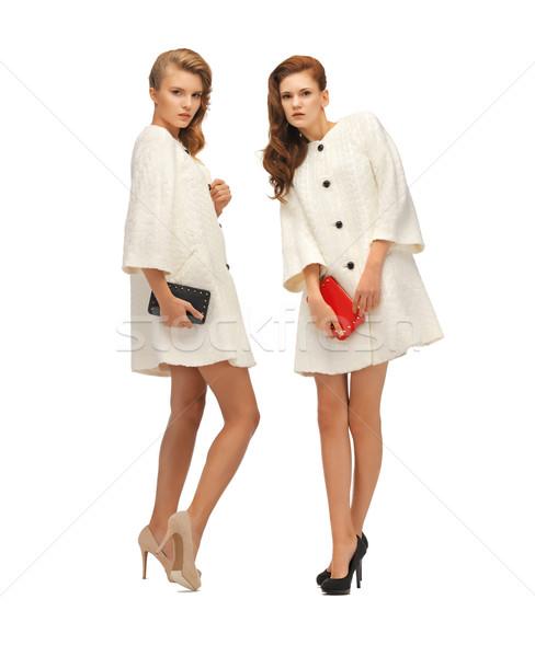 Dos blanco Foto mujer mano Foto stock © dolgachov