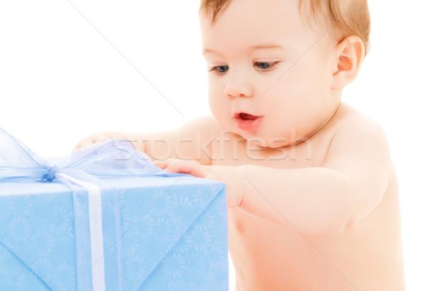 幸せ 子 ギフトボックス 明るい 画像 歳の誕生日 ストックフォト © dolgachov