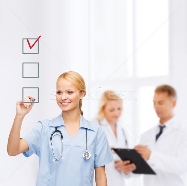 医師 看護 図面 チェックボックス 医療 医療 ストックフォト © dolgachov