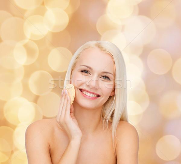 красивая женщина губки здоровья девушки счастливым Сток-фото © dolgachov