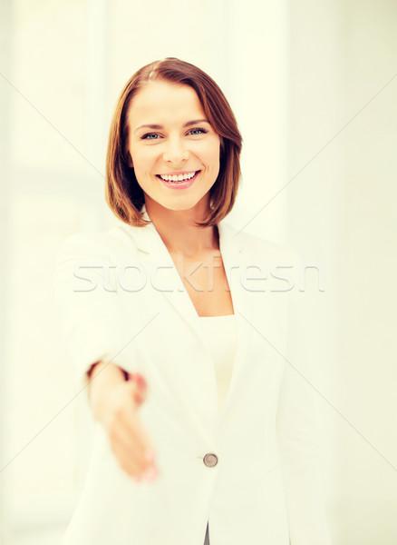 businesswoman ready for handshake Stock photo © dolgachov