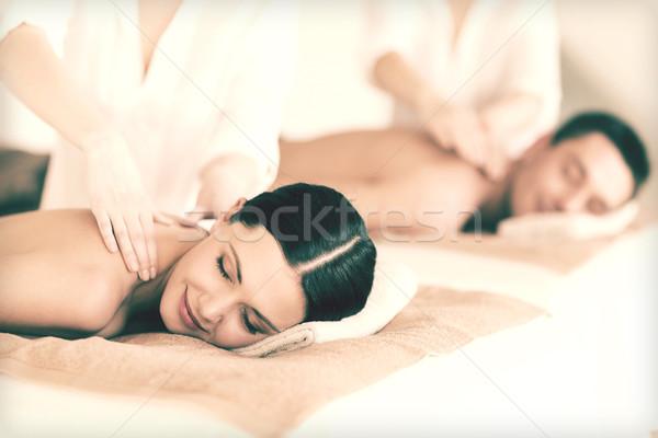 couple in spa Stock photo © dolgachov