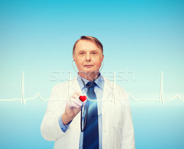 笑みを浮かべて 医師 教授 聴診器 医療 薬 ストックフォト © dolgachov
