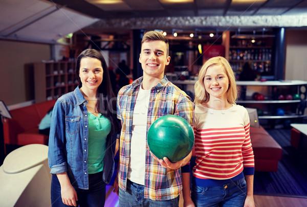 Zdjęcia stock: Szczęśliwy · znajomych · bowling · klub · ludzi · wypoczynku