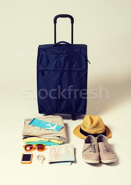 travel bag and personal stuff Stock photo © dolgachov