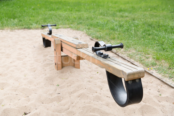 Swing площадка детство оборудование объект Сток-фото © dolgachov