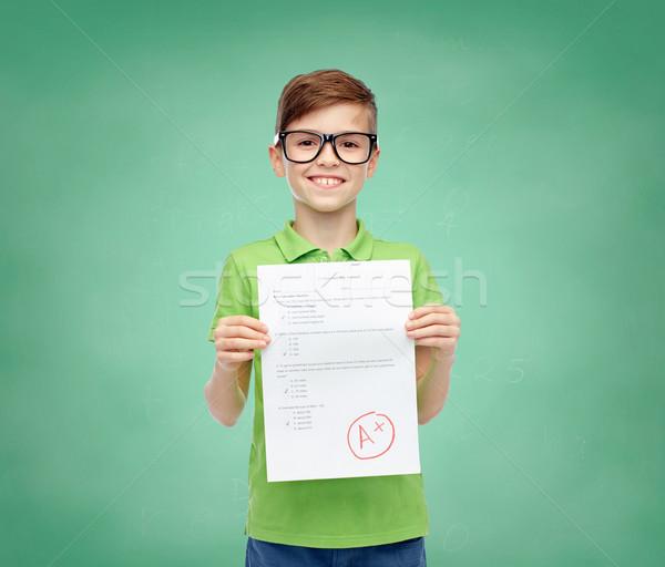 очки школы испытание результат Сток-фото © dolgachov