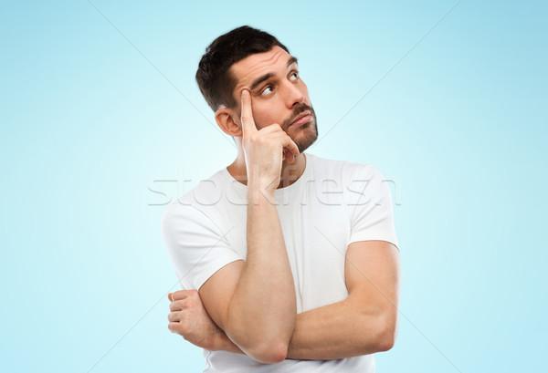 человека мышления синий люди молодые Сток-фото © dolgachov