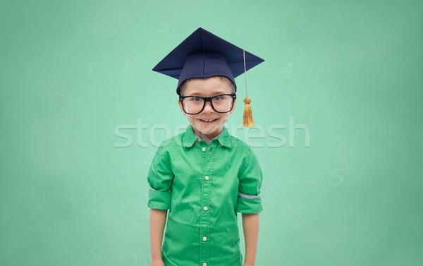 Vrijgezel hoed jeugd school onderwijs Stockfoto © dolgachov