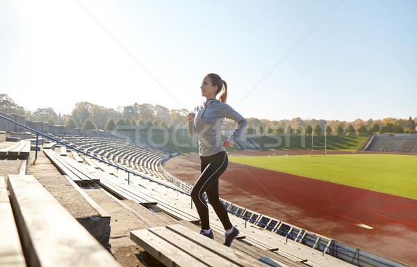 счастливым работает наверх стадион фитнес Сток-фото © dolgachov