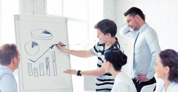 ビジネスチーム 作業 メモ帳 オフィス 笑みを浮かべて ビジネス ストックフォト © dolgachov