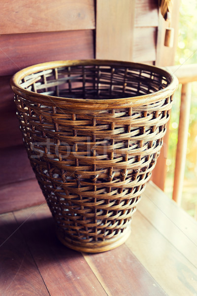 close up of wicker basket Stock photo © dolgachov