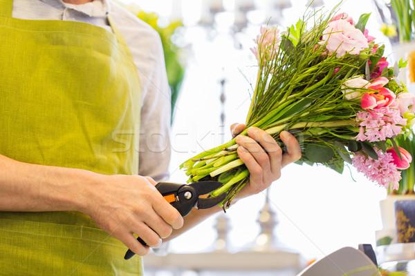 Florista homem flores pessoas negócio Foto stock © dolgachov
