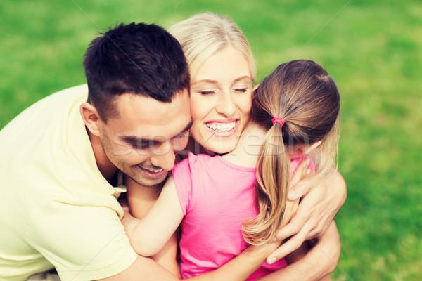 幸せな家族 屋外 家族 幸福 採用 ストックフォト © dolgachov