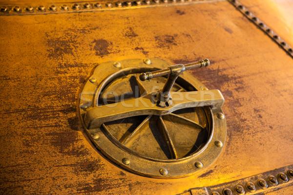 close up of vintage manhole Stock photo © dolgachov
