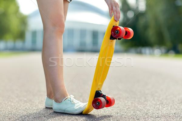 女性 フィート 短い スケート スケート ストックフォト © dolgachov