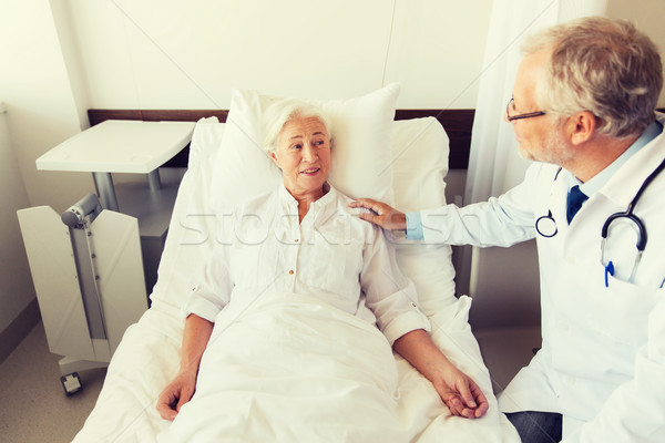 Stok fotoğraf: Doktor · kıdemli · kadın · hastane · tıp · yaş
