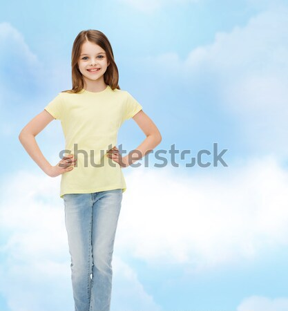 happy asian young woman pointing finger on you Stock photo © dolgachov