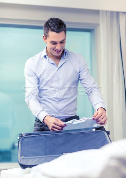Işadamı işler bavul iş teknoloji Stok fotoğraf © dolgachov