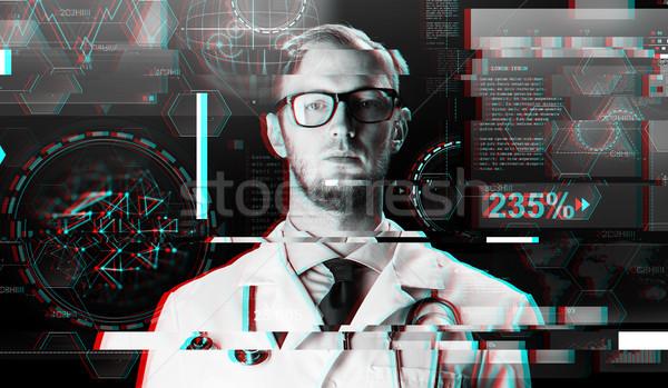 Stok fotoğraf: Doktor · beyaz · kat · stetoskop · bilim
