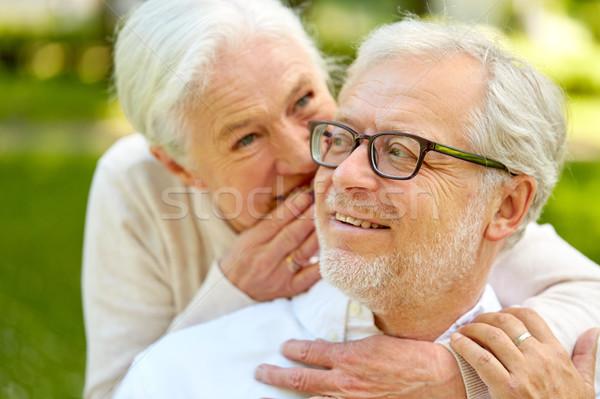 Buitenshuis ouderdom pensioen Stockfoto © dolgachov