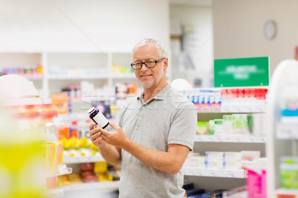 старший мужчины клиентов наркотиков аптека медицина Сток-фото © dolgachov