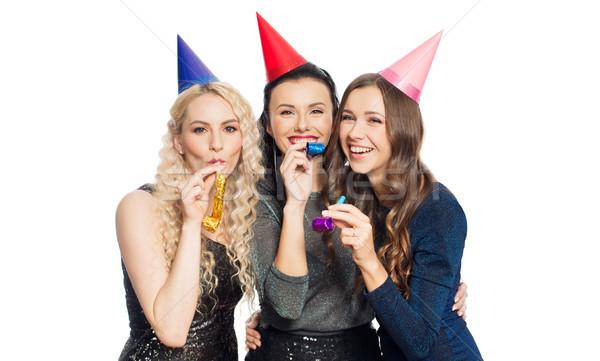 Heureux femmes fête personnes célébration Photo stock © dolgachov