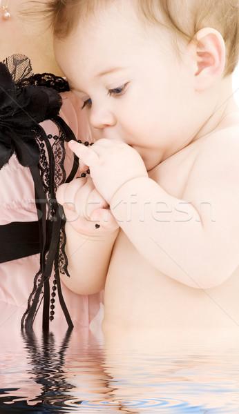 Zdjęcia stock: Czyste · baby · chłopca · matka · ręce