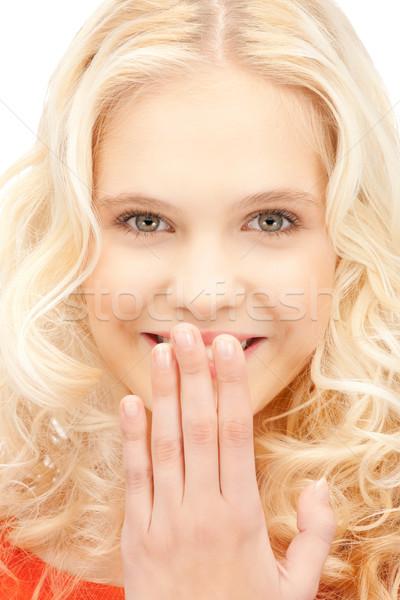 Nevet nő fényes közelkép kép gyönyörű Stock fotó © dolgachov