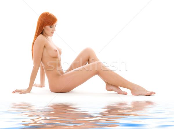Foto stock: Saludable · desnuda · brillante · Foto · blanco