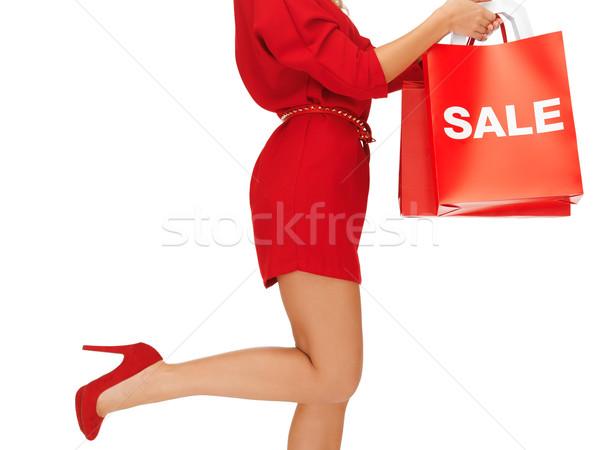 Kadın yüksek topuklu resim Stok fotoğraf © dolgachov