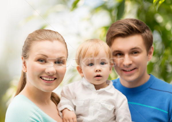 happy family with adorable child Stock photo © dolgachov