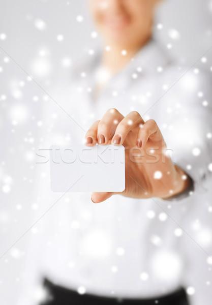 Işkadını boş kart iş ofis Filmi Stok fotoğraf © dolgachov
