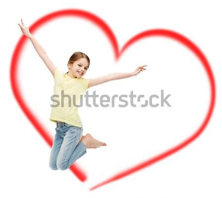 счастливым ангела девушки лук стрелка Сток-фото © dolgachov