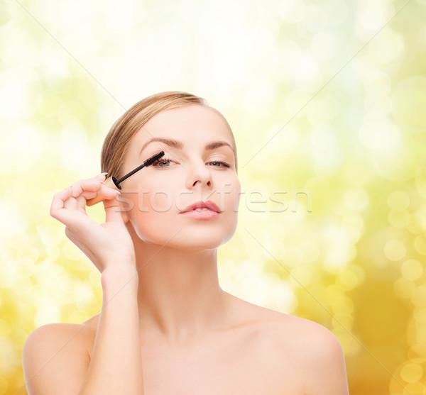 美人 マスカラ 化粧品 健康 美 黒 ストックフォト © dolgachov