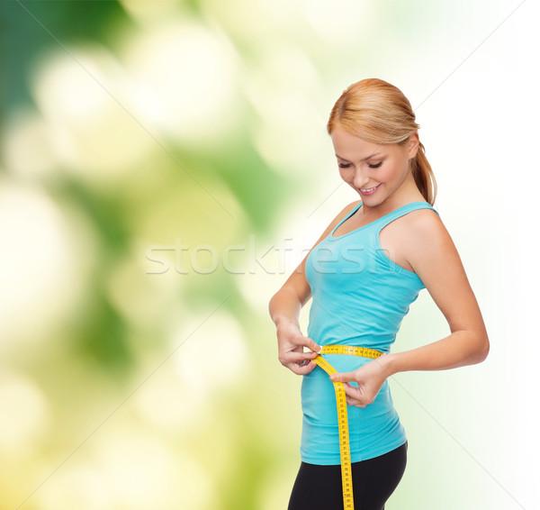 Foto stock: Mulher · dieta · esportes · belo