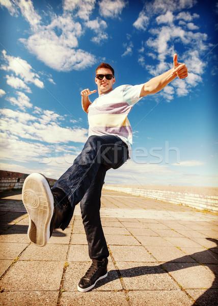 Bello ragazzo dance spostare sport Foto d'archivio © dolgachov