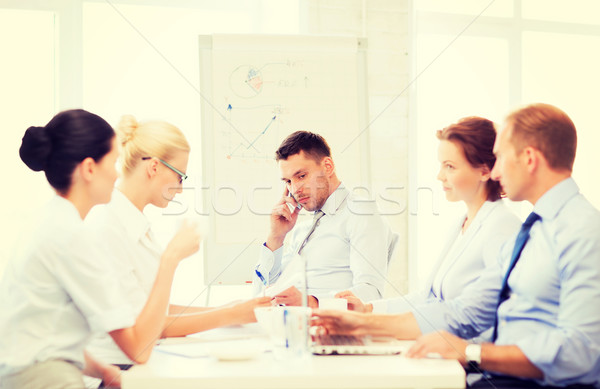 stressed male boss on business meeting Stock photo © dolgachov