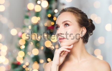 woman with diamond earrings Stock photo © dolgachov